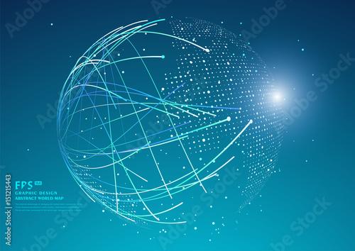 Fototapeta Three-dimensional abstract planet,meaning globalization, internationalization