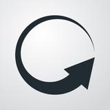 Icono plano flecha giratoria en fondo degradado - 151217013