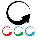 Icono plano flecha giratoria varios colores - 151217017