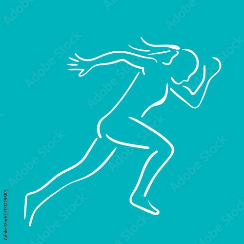 silhouette femme course vitesse