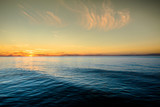 Beautiful sunset over sea, wallpaper, summer, landscape, Poland