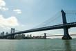 Manhattan Bridge and the City.