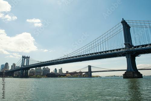 Manhattan Bridge and the City. Poster