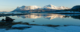Panorama am Tysfjord in Nordnorwegen im Winter - 151240099