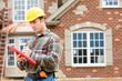 Construction: Home Inspector Checking House