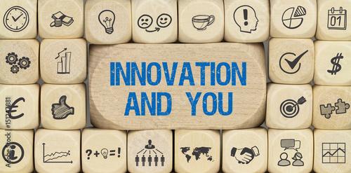 Innovation and you / Würfel mit Symbole Poster