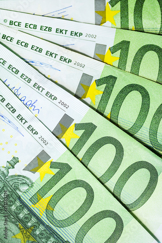 Poster billets de 100 euro en gros plan