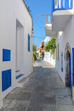 narrow street alley in Nissiros, Greece - 151305056
