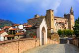 Medieval Bormida monastery and castle in regione Asti in Piemonte, Italy