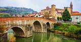 impressive medieval Bormida monastery and castle in regione Asti in Piemonte, Italy