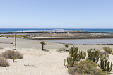 Traditional methods of sea salt production in Salinas del Carmen, Fuerteventura. Production from ocean water