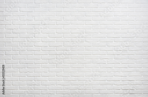 Leinwanddruck Bild white brick wall background photo