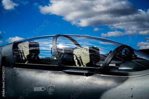 fototapeta na ścianę Fighter jet reflection