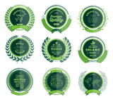 Luxury Green Badges Laurel Wreath Collection - 151374289