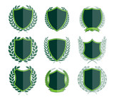 Luxury Green Badges Laurel Wreath Collection - 151376068