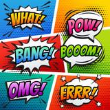 Fototapety comic sound effect speech bubble pop art in vector cartoon style
