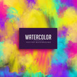 colorful watercolor stain abstract background