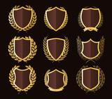 Luxury Golden Badges Laurel Wreath Collection - 151400845