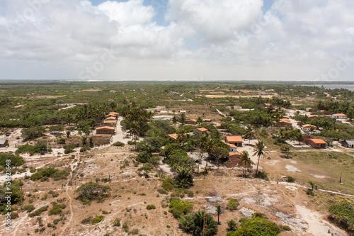 Plakat ブラジルのマンダガル漁村にある灯台からの眺め