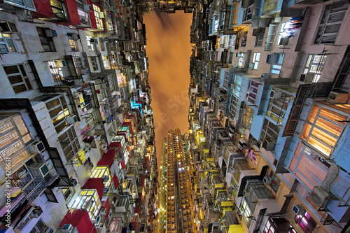 Quarry Bay high rise housing in Hong Kong China Poster