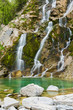 Emerald Water of the Torre Torrent Falls. Silk water. Tarcento, Friuli to discover - 151429270