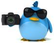 Blue bird - 3D Illustration - 151447095