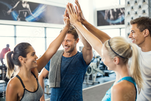 Fotobehang Fitness High five at gym