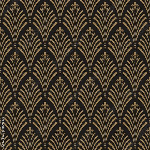 Naklejka Art Deco, seamless wallpaper pattern