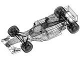 Sport race car blueprint – 3D perspective