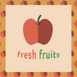 Vector image of apple reading fresh fruits - 151493882