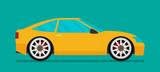 Flat car vector. Eps 10