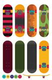 Skateboard vector illustration isolated on white background