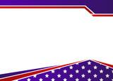 USA flag themed patriotic border design - 151511636