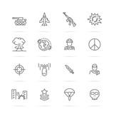 world war vector line icons - 151513448