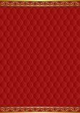 Maroon background with decorative pattern and golden ornaments - 151531244