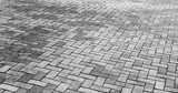Gray cobblestone road pavement texture - 151538686