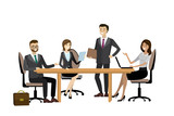 business team brainstorming together in office - 151546877