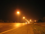car on express way at night