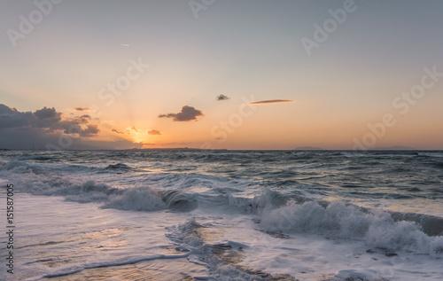 Foto op Canvas Zee zonsondergang Tramonto siciliano