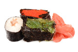 Sushi on the isolated background