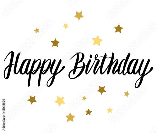 In de dag Retro sign Happy Birthday typographic vector text design.