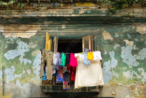 Poster Havana havana balcony for drying washed clothes