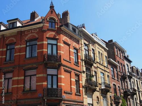 Foto op Plexiglas Brussel Brüssel: Schöne Altbau-Fassaden
