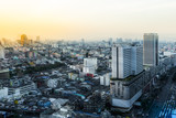 Sunset on Bangkok cityscape