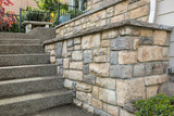 Cultured Stone Work on House Front - 151683437
