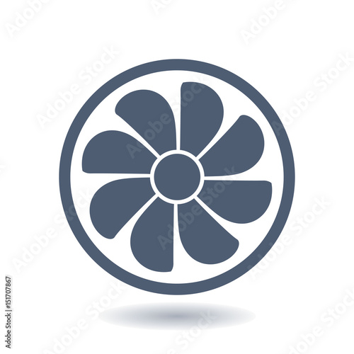 Exhaust Fan Icon Ventilator Symbol Flat Design Style Buy Photos