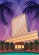 Hotel Casino Resort / Hotel and casino resort in Art Deco style.