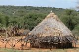 Traditionelle Strohhütten im Omo Valley von Äthiopien