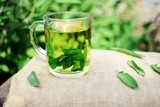 Cup of fresh sage tea  - 151775249