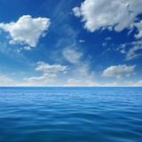 Blue sea water surface - 151780045